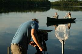 Tournage au lac Fortune en Abitibi-Témiscamingue