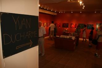 Exposition des oeuvres D'Yvan Ducharme à la galerie La Fontaine des Arts à Rouyn-Noranda