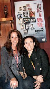 Nathalie Ducharme (Productrice, réalisatrice et scénariste du documentaire) en compagnie de Isabelle Fortier (Productrice déléguée)