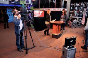 Quelques minutes après la première du film devant public.  Entrevue avec Catherine Marcil, chef d'antenne de Radio-Canada (Abitibi-Témiscamingue)