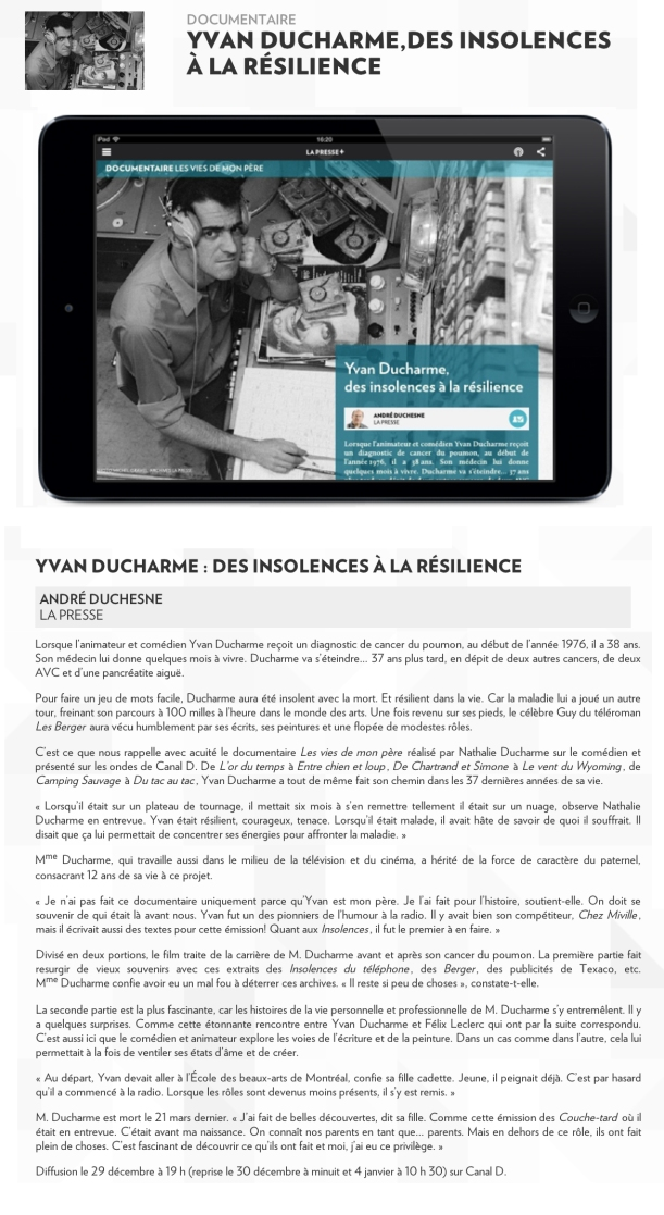 article la presse - des insolences a la resilience