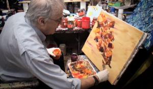 Yvan Ducharme dans son atelier